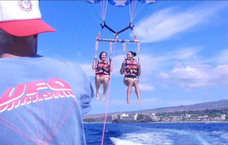 Everyday Is A Great Day To Be Parasailing In Maui This Trip Was With Ufo Right Off Of Kaanapali Beach The Only Way See On